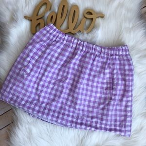 J. Crew Gingham Mini Skirt
